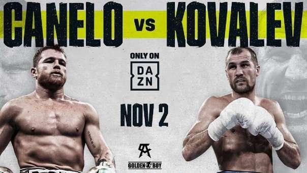 "Saúl ""Canelo"" Álvarez vs Sergey Kovalev en Vivo – Box – Sábado 2 de Noviembre del 2019"