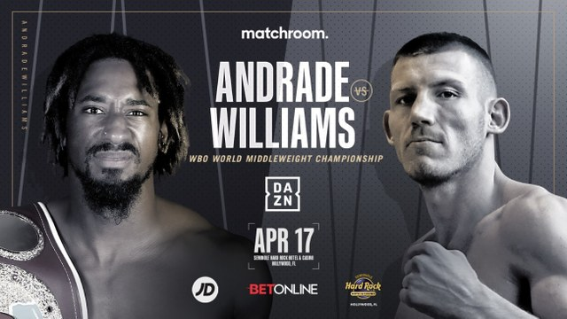 Demetrius 'Boo Boo' Andrade vs Liam 'The Machine' Williams en Vivo – Box – Sábado 17 de Abril del 2021