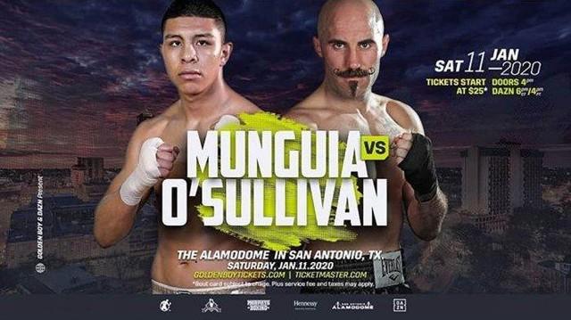 Jaime Munguía vs Spike O'Sullivan en Vivo – Box – Sábado 11 de Enero del 2020