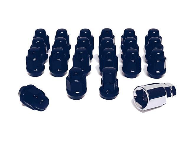 Set of 12x1.5 Black Lug Nut /& Wheel Lock Combo Mazda Miata MX 5 6 Dodge Caliber