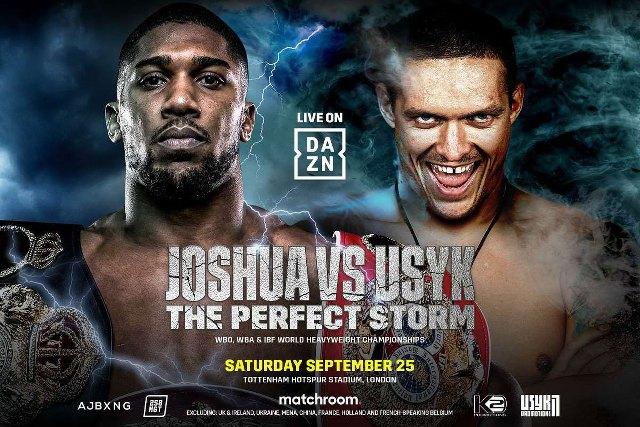 Anthony Joshua vs Oleksandr Usyk en Vivo – Box – Sábado 25 de Septiembre del 2021