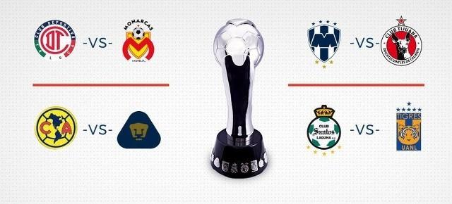 Así se jugarán los cuartos de final de la liguilla del Clausura 2018