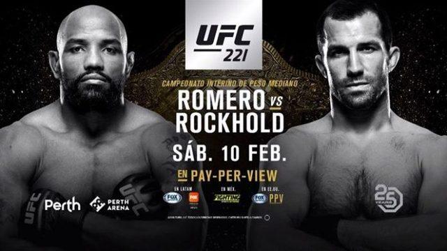 Yoel Romero vs Luke Rockhold en Vivo – UFC 221 – Sábado 10 de Febrero del 2018