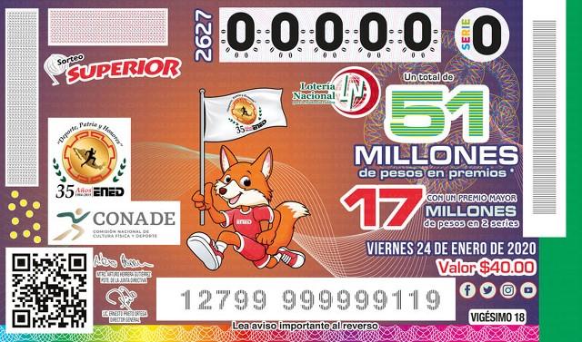 Loteria Nacional Sorteo Superior en Vivo – Viernes 24 de Enero del 2020
