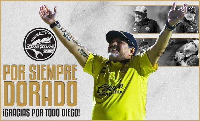 Diego Armando Maradona deja de ser técnico de Dorados de Sinaloa