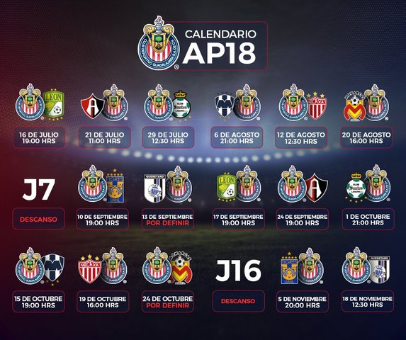 El calendario de Chivas en la Liga MX Femenil