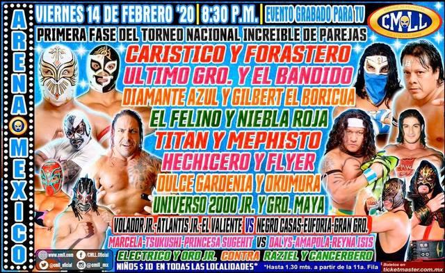 Lucha Libre de la CMLL desde la Arena México en Vivo – Viernes 14 de Febrero del 2020
