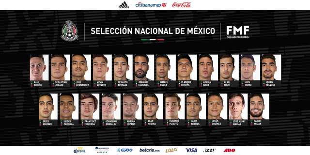 La sorpresiva convocatoria de la selección mexicana