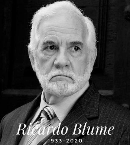 Fallece el actor Ricardo Blume a los 87 años