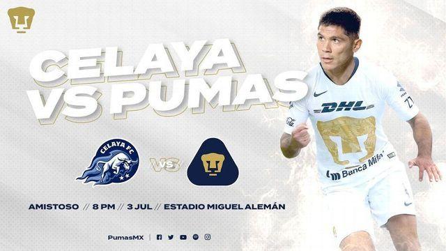 Pumas vs Celaya será el primer partido de Michel