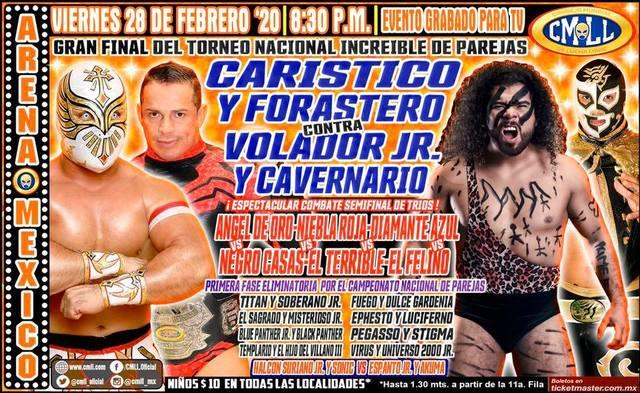 Lucha Libre de la CMLL desde la Arena México en Vivo – Viernes 28 de Febrero del 2020