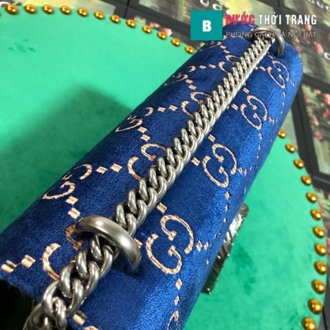 Túi Xách Gucci Dionysus Small Size 28 cm chất nhung xanh biển