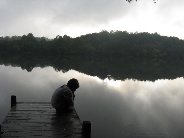Boy at river