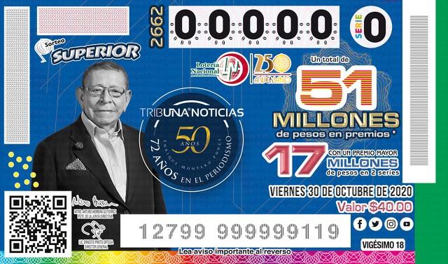 Loteria Nacional Sorteo Superior No. 2662 en Vivo – Viernes 30 de Octubre del 2020