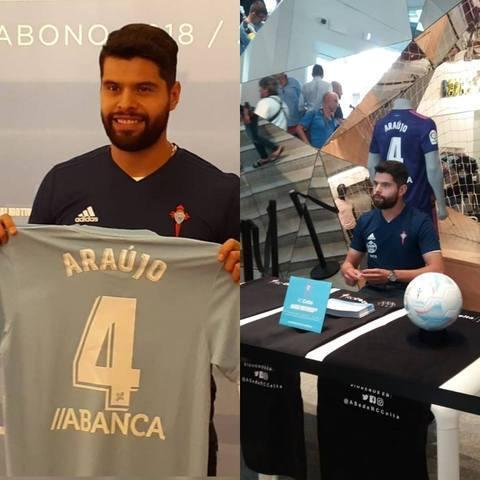 Néstor Araujo es presentado por el Celta de Vigo