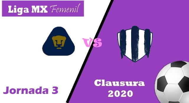 Pumas vs Monterrey – Donde ver por TV y Horario – Clausura 2020 Liga MX Femenil