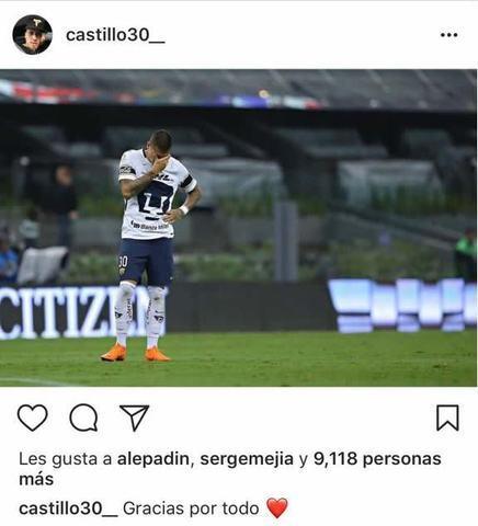 Nico Castillo le dice 'gracias por todo' a Pumas
