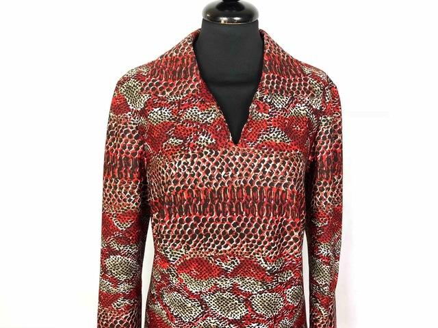 CULT VINTAGE  70 Abito Vestito Donna Optical Woman Dress Sz.M - 44 ... 83351aa84ba