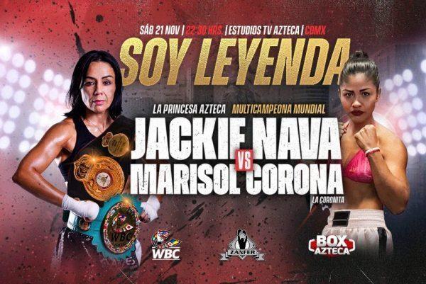 Jackie 'La Princesa Azteca' Nava vs Marisol 'La Coronita' Corona en Vivo – Box – Sábado 21 de Noviembre del 2020