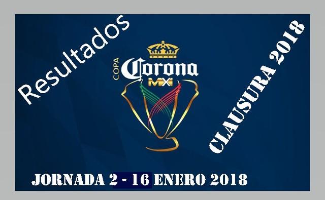 Resultados Copa MX de la Jornada 2 – Martes 16 de Enero del 2018