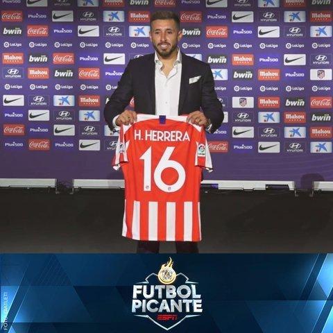 Así fue la presentación de Héctor Herrera en el Atlético de Madrid