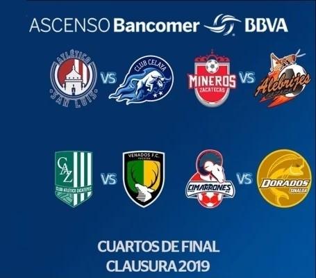 Listas fechas y horarios de cuartos de final del Ascenso MX