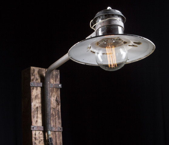 200 Alte draußen Industrie Emaille Lampe Fabrik Wandlampe LOFT LAMP 50er SPO