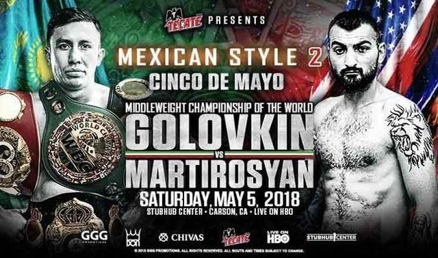 Gennady Golovkin vs Vanes Martirosyan en Vivo – Box – Sábado 5 de Mayo del 2018