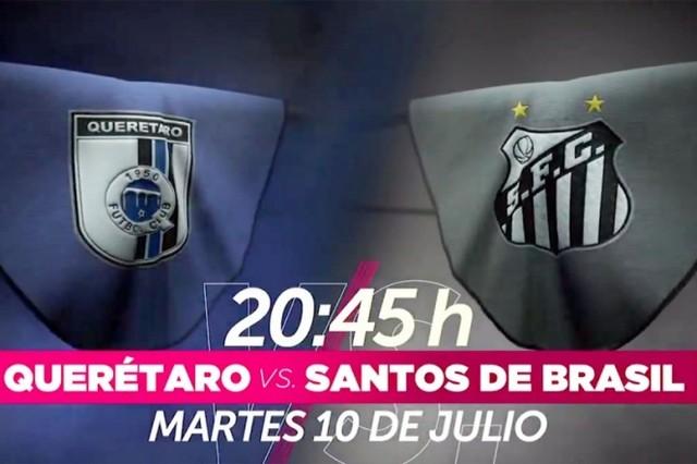 Querétaro vs Santos de Brasil en Vivo – Partido Amistoso – Martes 10 de Julio del 2018