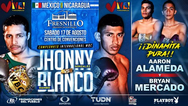 Jhonny González vs Ramiro Blanco en Vivo – Box – Sábado 17 de Agosto del 2019