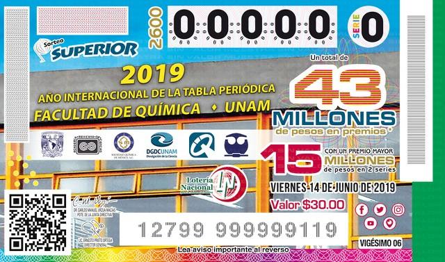 Loteria Nacional Sorteo Superior No. 2600 en Vivo – Viernes 14 de Junio del 2019