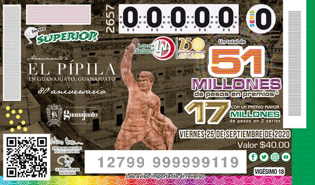 Loteria Nacional Sorteo Superior No. 2657 en Vivo – Viernes 25 de Septiembre del 2020