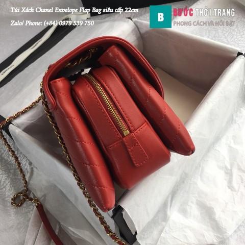 Túi Xách Chanel Envelope Flap Bag siêu cấp màu đỏ 22cm - A57431
