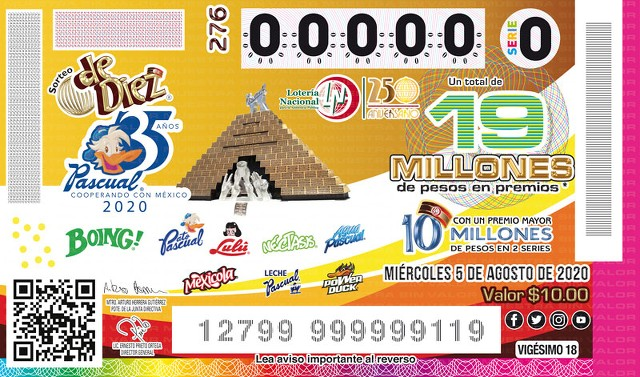 Loteria Nacional Sorteo de Diez No. 276 en Vivo – Miércoles 5 de Agosto del 2020