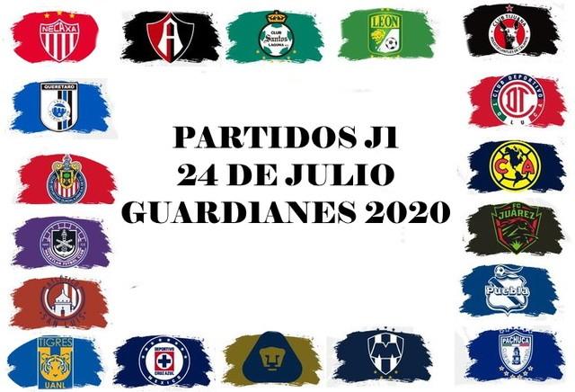 Partidos del Torneo Guard1anes 2020 – Viernes  24 de Julio del 2020