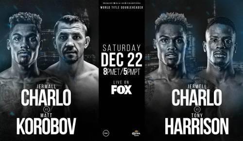Jermall Charlo vs Matvey Korobov en Vivo – Box – Sábado 22 de Diciembre del 2018
