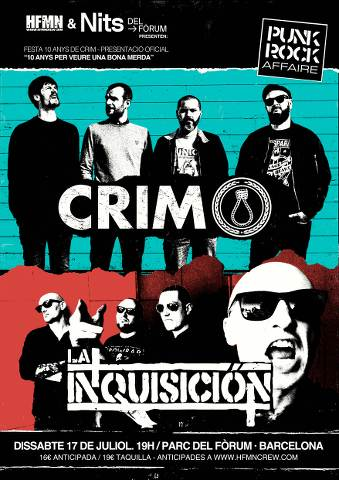 CRIM + La Inquisición – Nits Del Forum