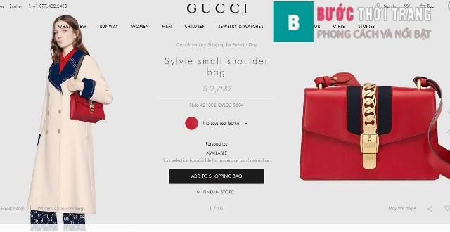 Gucci Sylvie size vừa