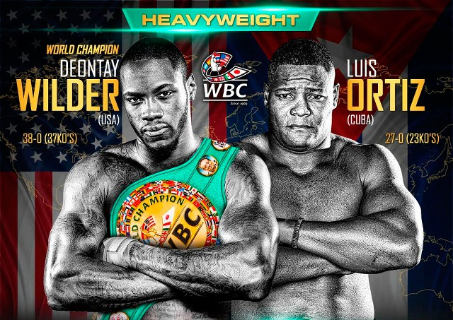 Deontay Wilder vs Luis Ortiz en Vivo – Box – Sábado 3 de Marzo del 2018