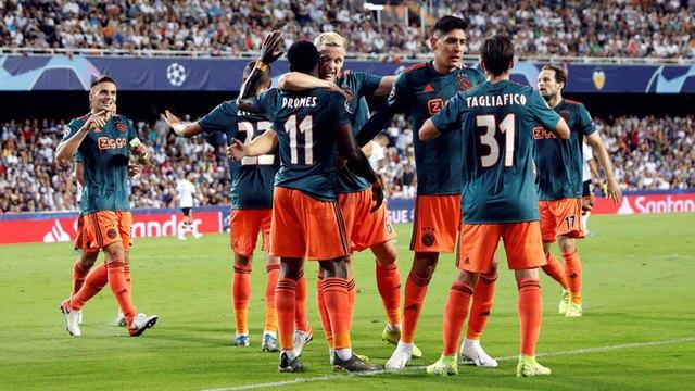 Resultado Valencia vs Ajax – Fase de Grupos -J2-  Champions League