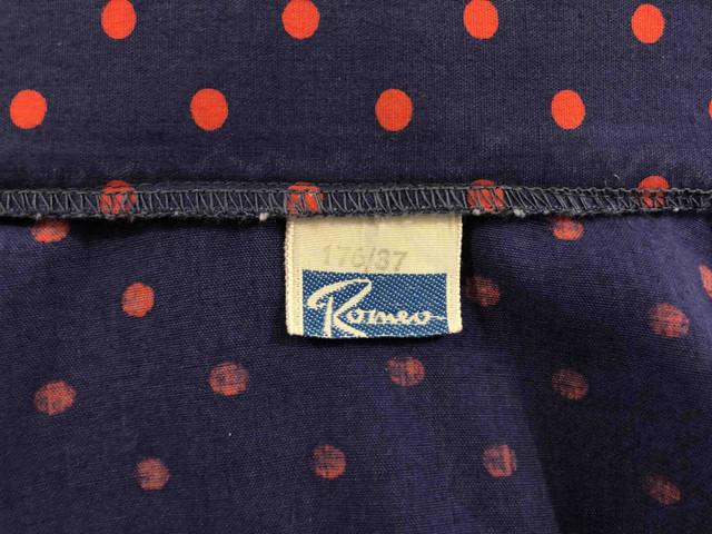 35fe84a37e0f Cult Vintage '70 Herrenhemd Baumwolle Tupfen Rockabilly Herr Cotton Hemd  SZ.S -