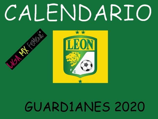 Calendario de León Femenil – Guard1anes 2020