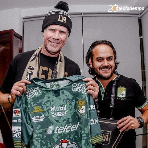 León  recibe al Will Ferrell socio de Los Ángeles FC