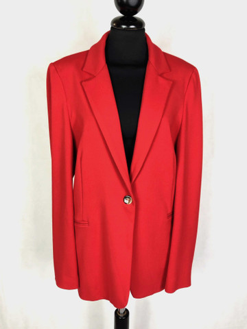 official photos d6e21 7eccc Dettagli su KRIZIA Giacca Donna Elegante Rossa Viscosa Woman Rayon Jacket  Sz.L - 46