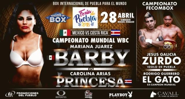 "Mariana ""Barbie"" Juárez vs Carolina ""Princesa"" Arias en Vivo – Box – Sábado 28 de Abril del 2018"