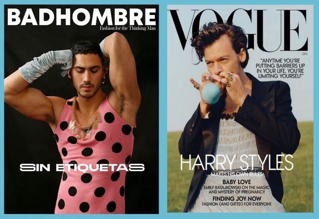 Harry Styles y Alejandro Speitzer posan con ropa femenina
