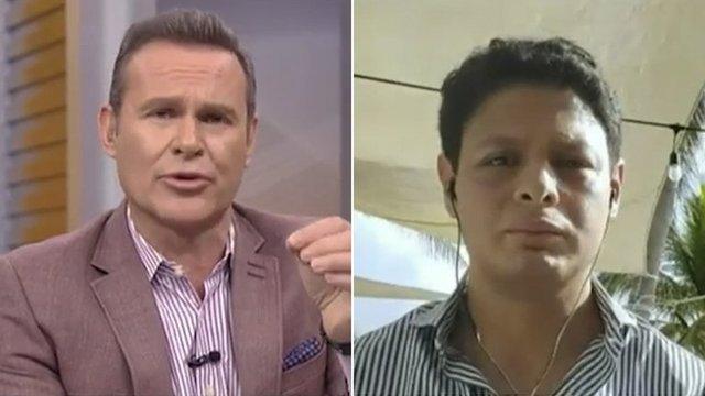 Alan Tacher se pelea con Giovanni Medina