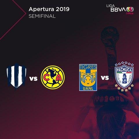 Así se jugarán las semifinales de la Liga MX Femenil del Apertura 2019