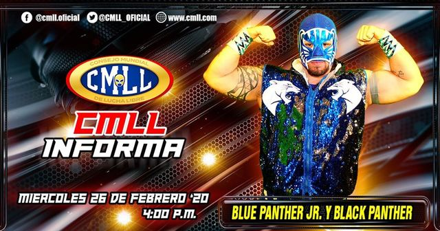 CMLL Informa en Vivo – Blue Panther Jr. y Black Panther – Miércoles 26 de Febrero del 2020