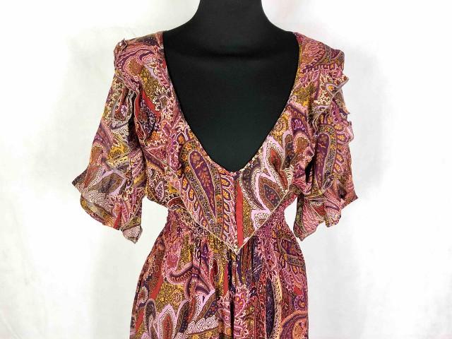 purchase cheap 3a101 e034e Details about Gai Mattiolo Woman Dress Silk Bohemian Boho Woman Silk Dress  SZ.S - 40